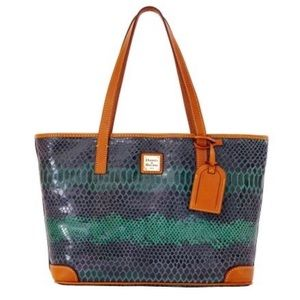 DOONEY & BOURKE SNAKE CHARLESTON SHOPPER PURSE BAG